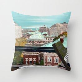 Autumn at Barnard College | Barnard Seasons Series Throw Pillow