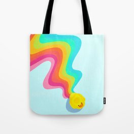 Rainbow Rubber Ducky Tote Bag