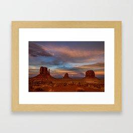Oljato-Monument_Valley 0122 - Sunset Framed Art Print