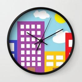 Microsoft Paint City Wall Clock