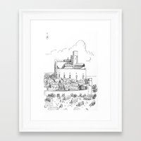 castle Framed Art Prints featuring Castle by Mr.Willow
