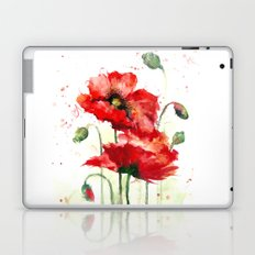Watercolor flowers of aquarelle poppies Laptop & iPad Skin