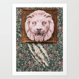Lion Hunter Art Print