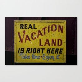 Staycation Canvas Print