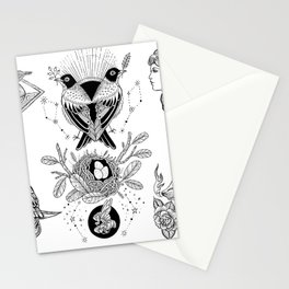 Black and White Tattoo Flash 1 Stationery Cards