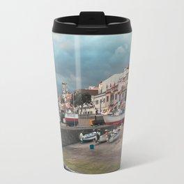 Portuguese harbour Travel Mug