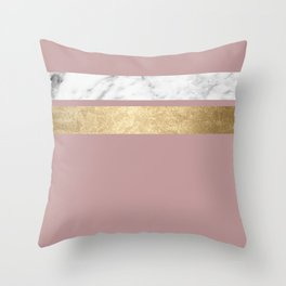 Mauve in the night marble Throw Pillow