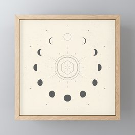 Moon Phases Light Framed Mini Art Print
