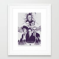 twin peaks Framed Art Prints featuring Twin Peaks by Young Napoleon