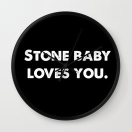 Stone Baby Loves You Wall Clock