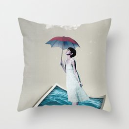 Ocean of Dreams II Throw Pillow