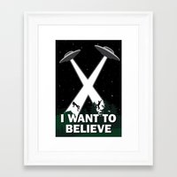 i want to believe Framed Art Prints featuring I want to believe by BomDesignz