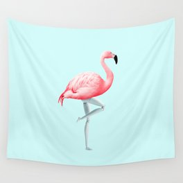 FLAMINGO MANNEQUIN Wall Tapestry