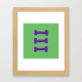 Last one cute bones variation Framed Art Print