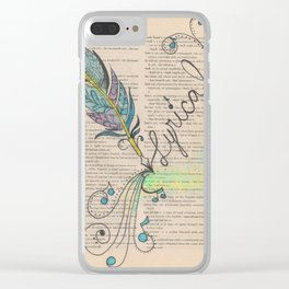 Lyrical beauty Clear iPhone Case