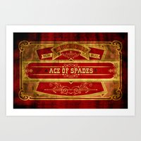 ace Art Prints featuring Ace by Ace of Spades