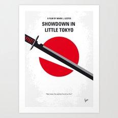 No522 My Showdown in Little Tokyo minimal movie Art Print