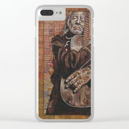 Willie's Guitar Clear iPhone Case