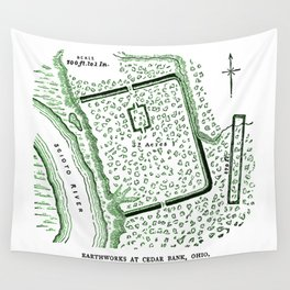 Earthworks at Cedar Bank Wall Tapestry