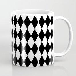 Jester Black and White Coffee Mug