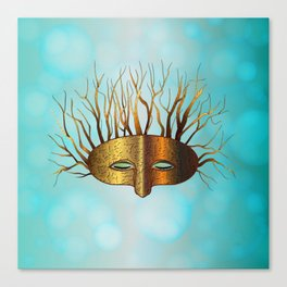 Green Man Slumbers Canvas Print