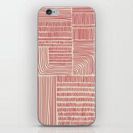Digital Stitches whole beige + red iPhone Skin