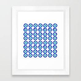 Evil Eye Amulet Talisman - on white Framed Art Print