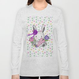 Easter Bunny And Tulips Long Sleeve T-shirt