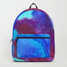 Blue Watercolor Meditation by Imaginarium Creative Studios Backpack