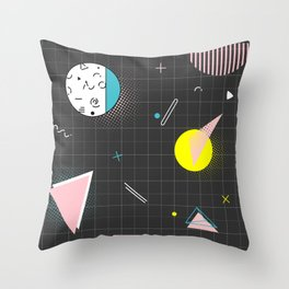 Memphis dark Throw Pillow