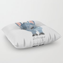 Water Colour Baby Donkey Floor Pillow