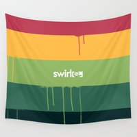 rasta Wall Tapestries featuring Rasta Drips by Swirl Apparel