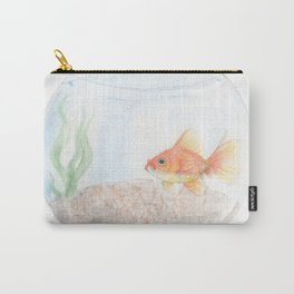 Grumpy Goldfish Carry-All Pouch