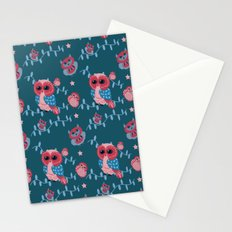 Owls pattern Stationery Cards