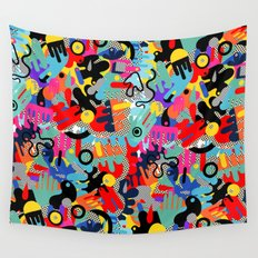 Color blobs 002 Wall Tapestry