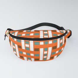 Cross Stitch Quilt Latter Design Chutes Weave Fanny Pack
