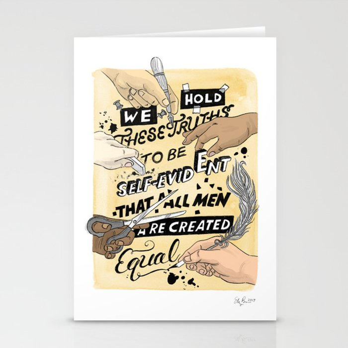 We Hold These Truths (yellow) Stationery Cards