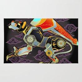 Black Lion Batik Rug