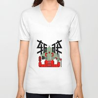 knight V-neck T-shirts featuring knight by  Toyoya Li