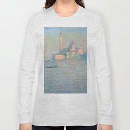 "Claude Monet ""The Church of San Giorgio Maggiore, Venice"" Long Sleeve T-shirt"