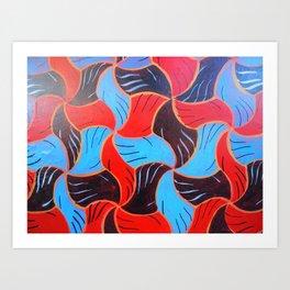 Buenos Aires Tessellation Art Print