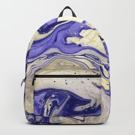 Painting marbled violet and golden Backpack