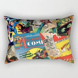 Comics Collage Rectangular Pillow
