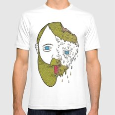 Face Melter Print Mens Fitted Tee MEDIUM White