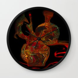 Crazy Vases, Abstract Wall Clock