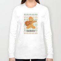 ed sheeran Long Sleeve T-shirts featuring Gingerbread Ed by Laura Maria Designs