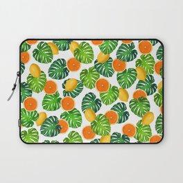Oranges Lemons Monstera White Laptop Sleeve