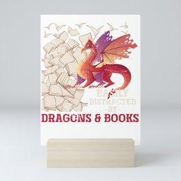 Dragon And Book Mini Art Print