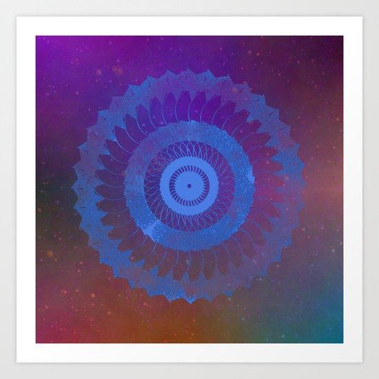 Technicolor Cosmos Blue Art Print
