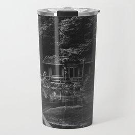 Cottage (Black and White) Travel Mug